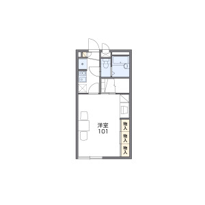 1K Apartment in Wanagaya - Matsudo-shi Floorplan