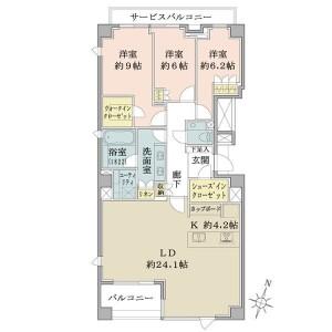 3LDK {building type} in Takanawa - Minato-ku Floorplan