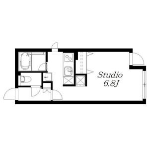 目黒區下目黒-1K公寓 房間格局