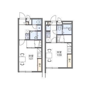 1K Apartment in Wajirogaoka - Fukuoka-shi Higashi-ku Floorplan