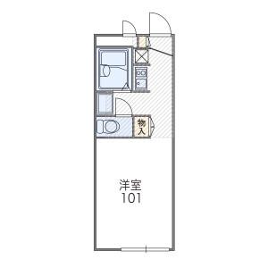 1K Apartment in Idacho - Kyoto-shi Kamigyo-ku Floorplan