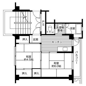 福岡市早良区野芥-2K公寓大厦 楼层布局