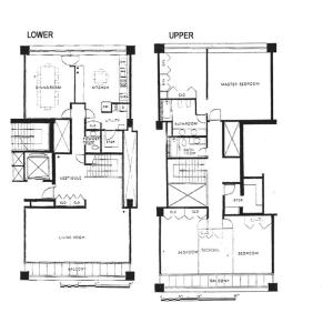 港區南麻布-4LDK公寓 房間格局