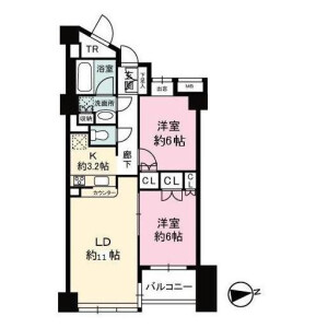 2LDK {building type} in Hommachi - Shibuya-ku Floorplan