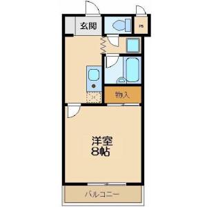 1K Mansion in Arajukumachi - Kawagoe-shi Floorplan