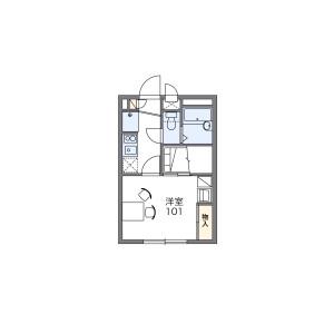 武藏村山市学園-1K公寓 楼层布局