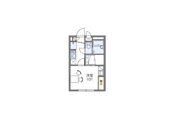 1K Apartment to Rent in Musashimurayama-shi Floorplan
