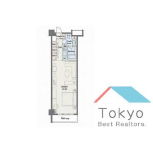 1R Mansion in Roppongi - Minato-ku Floorplan