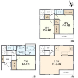 3LDK {building type} in Nishigotanda - Shinagawa-ku Floorplan