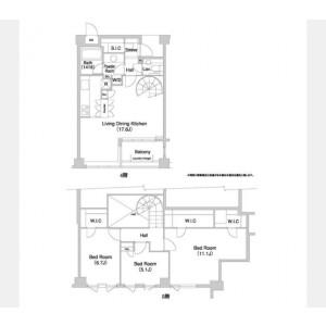 3LDK Mansion in Himonya - Meguro-ku Floorplan