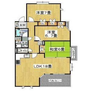 大阪市天王寺区逢阪-3LDK公寓大厦 楼层布局