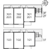 1K Apartment to Rent in Fuchu-shi Floorplan