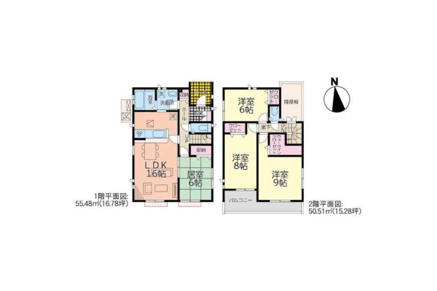 4LDK House to Buy in Mizuma-gun Oki-machi Floorplan