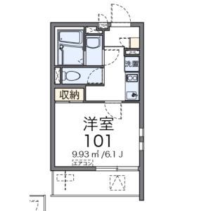1K Mansion in Hagoromocho - Tachikawa-shi Floorplan