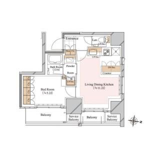 1LDK Mansion in Hakusan(1-chome) - Bunkyo-ku Floorplan