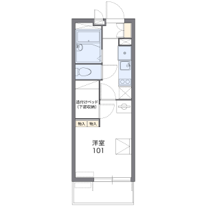 1K Apartment in Umegaoka - Setagaya-ku Floorplan