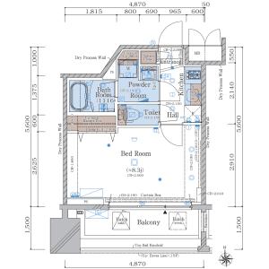 1K {building type} in Eitai - Koto-ku Floorplan