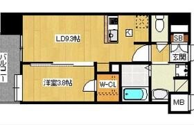 1DK {building type} in Watanabedori - Fukuoka-shi Chuo-ku