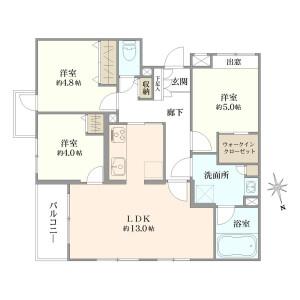 大田区南馬込-3LDK{building type} 楼层布局
