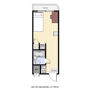 1R Mansion in Soshigaya - Setagaya-ku Floorplan