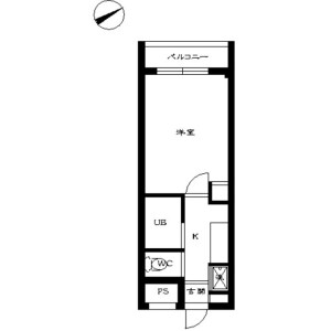 1K Mansion in Takadanobaba - Shinjuku-ku Floorplan