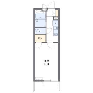 1K Apartment in Nishikicho - Warabi-shi Floorplan
