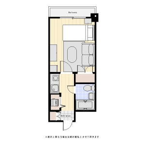 1K Mansion in Chitose - Sumida-ku Floorplan