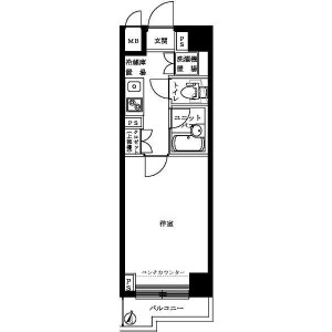 1K Mansion in Izumi - Suginami-ku Floorplan