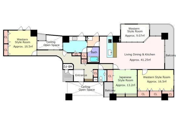 3LDK Apartment to Buy in Kyoto-shi Higashiyama-ku Floorplan