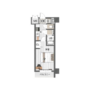1K Mansion in Shinyokohama - Yokohama-shi Kohoku-ku Floorplan
