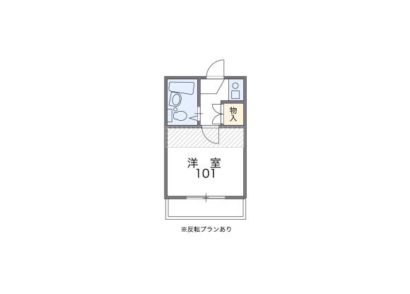 1K アパート 目黒区 間取り