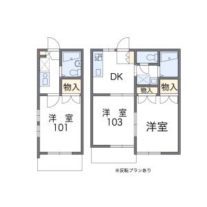 2DK Apartment in Monzencho - Nishinomiya-shi Floorplan