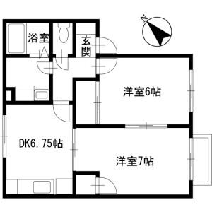 2DK Apartment in Mukoyama - Ageo-shi Floorplan