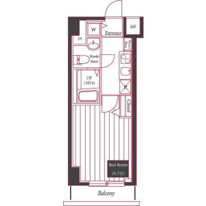 1K Apartment in Miyoshicho - Yokohama-shi Naka-ku Floorplan