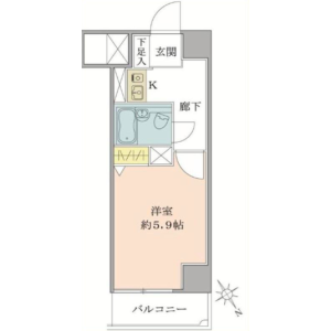 1K Apartment in Higashiueno - Taito-ku Floorplan