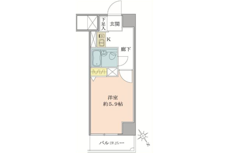 1K Apartment to Buy in Taito-ku Floorplan