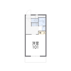 1K Apartment in Gannosu - Fukuoka-shi Higashi-ku Floorplan