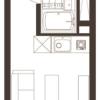 在涩谷区购买1R 公寓大厦的 楼层布局