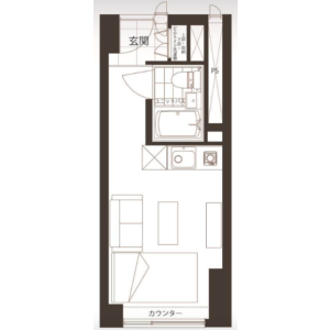 涩谷区代々木-1R{building type} 楼层布局