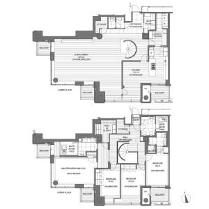 4LDK Apartment in Roppongi - Minato-ku Floorplan