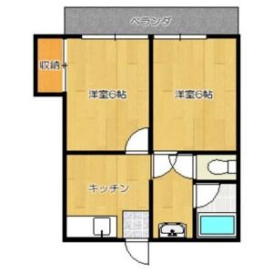 世田谷区 赤堤 2DK アパート 間取り