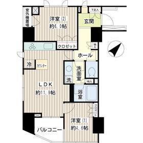目黒区目黒-2LDK公寓 楼层布局