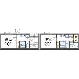 1K Apartment in Higashiyosumicho - Takatsuki-shi Floorplan