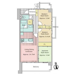 3LDK {building type} in Murasakino miyanishicho - Kyoto-shi Kita-ku Floorplan