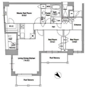 3LDK Mansion in Sendagaya - Shibuya-ku Floorplan