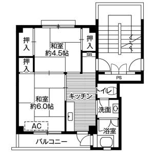 2K Mansion in Sasaga - Matsumoto-shi Floorplan