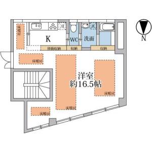 港區南青山-1K公寓 房間格局