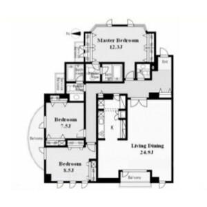 3LDK Mansion in Shibuya - Shibuya-ku Floorplan