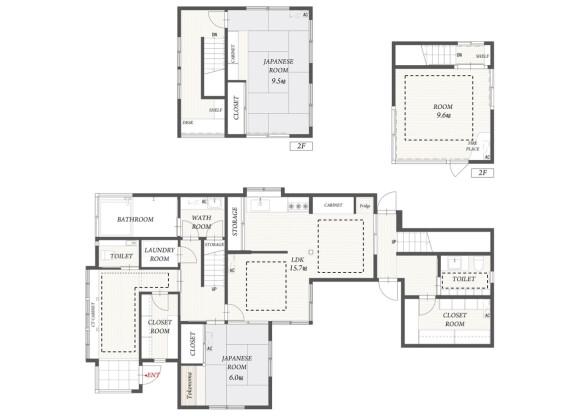3SLDK House to Rent in Kyoto-shi Sakyo-ku Floorplan