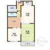 3DK Apartment to Buy in Osaka-shi Sumiyoshi-ku Floorplan